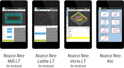 Nazca Neo Lathe LT for Android etc.